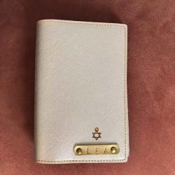 Portefeuille rose doré personnalisé - Porte-passeport rose doré personnalisé