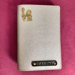 Portefeuille argent personnalisé - Porte-passeport argent personnalisé