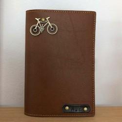 Portefeuille marron personnalisé - Porte-passeport marron personnalisé