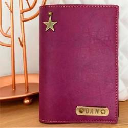 Portefeuille violet personnalisé - Porte-passeport violet personnalisé