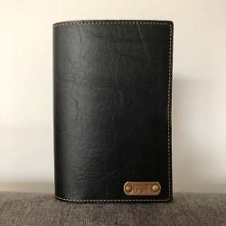 Portefeuille noir personnalisé - Porte-passeport noir personnalisé